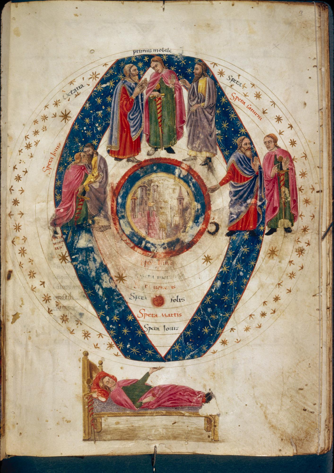 Dream theory: illuminated manuscript of Macrobius's Commentary on The Dream of Scipio