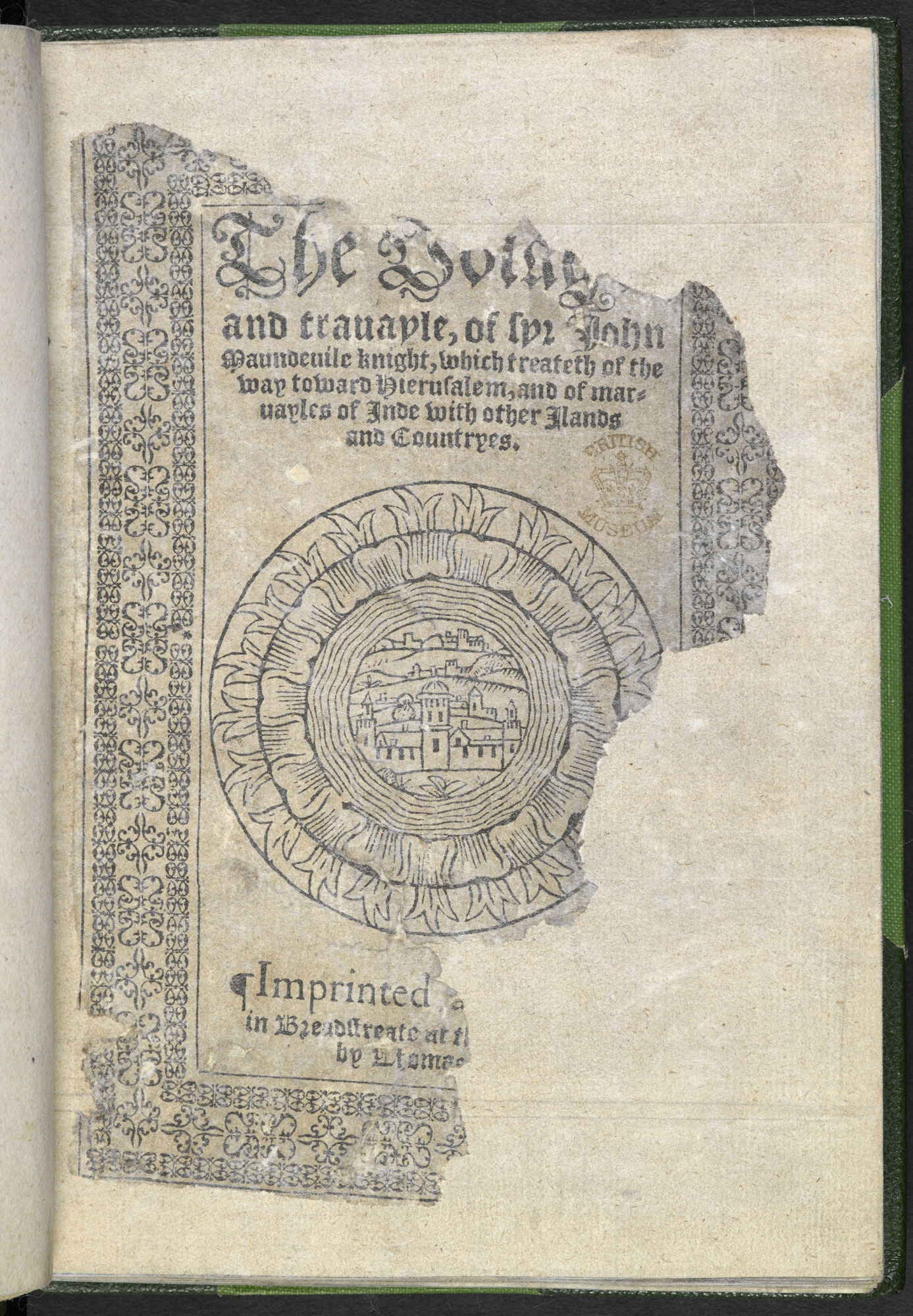 Illustrated edition of Mandeville's Travels, 1568