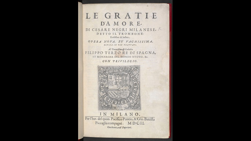 Italian treatise on dance, 1602