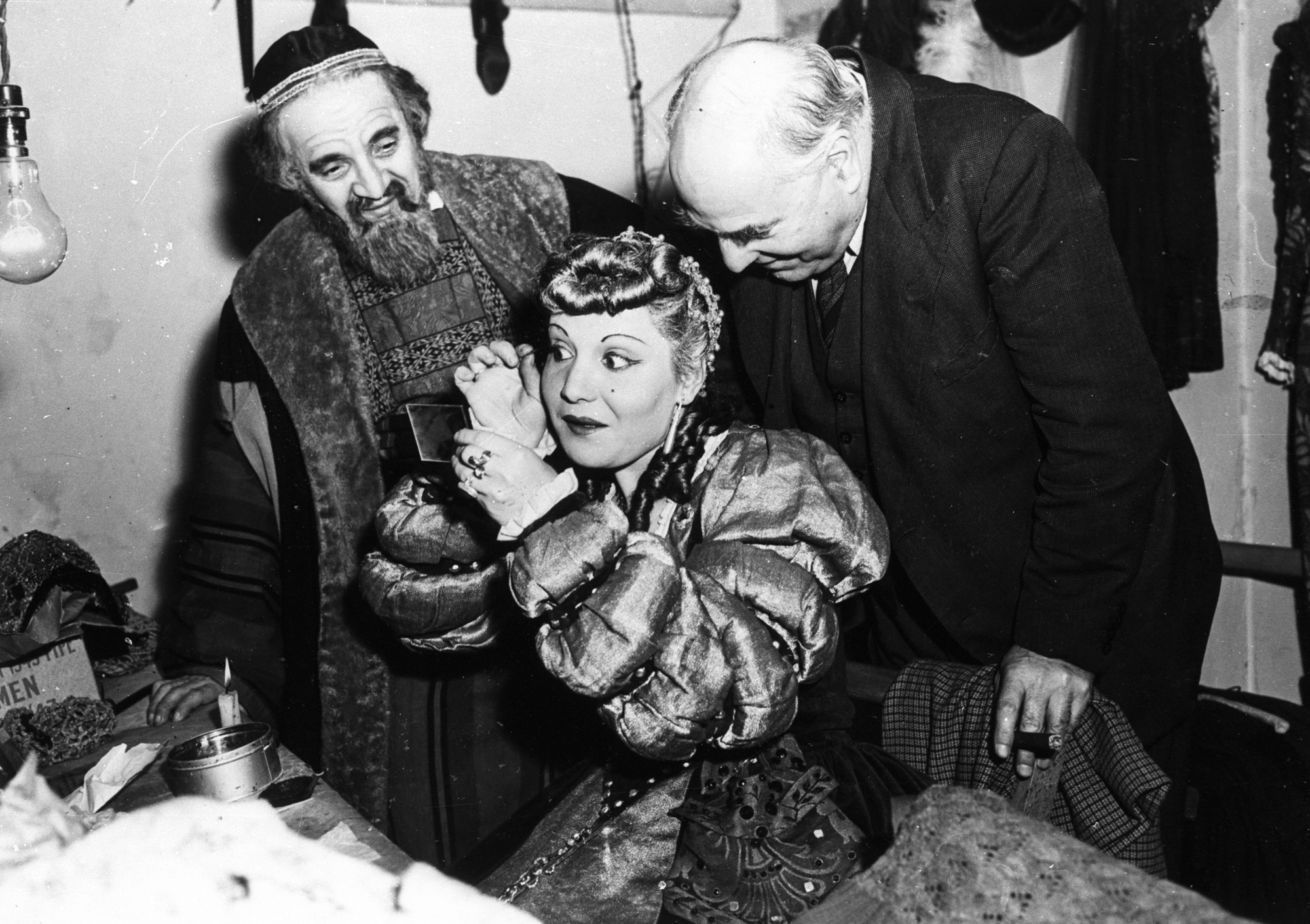Photographs of Yiddish production of The Merchant of Venice in 1946