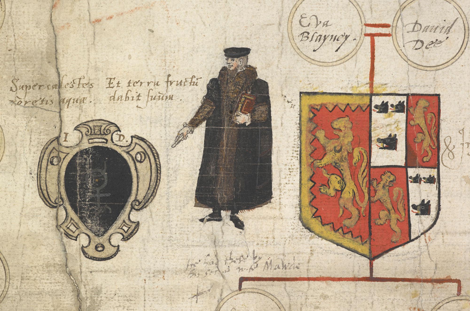 John Dee's genealogy and self-portrait