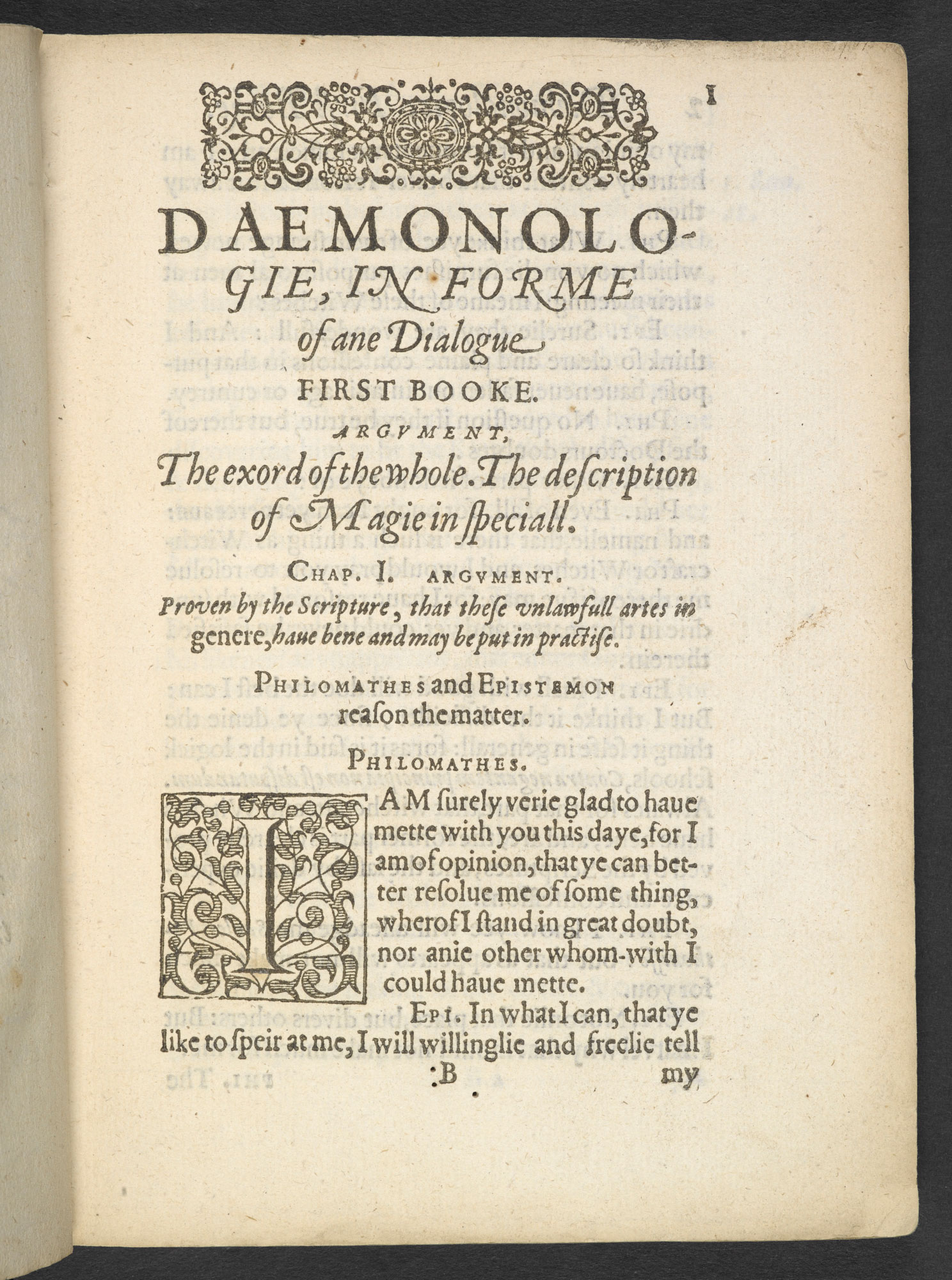 King James IV and I's Demonology, 1597