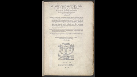 Leo Africanus's Geographical History of Africa