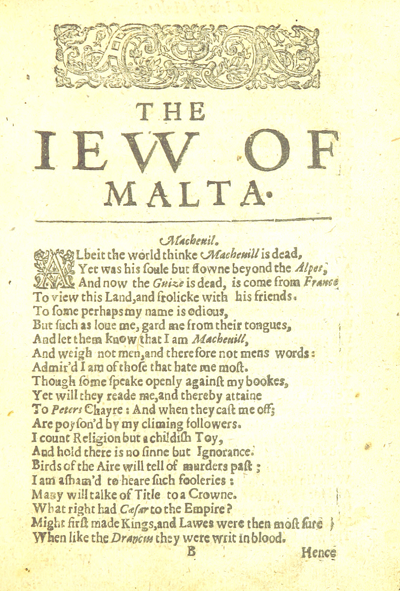 Marlowe's The Jew of Malta