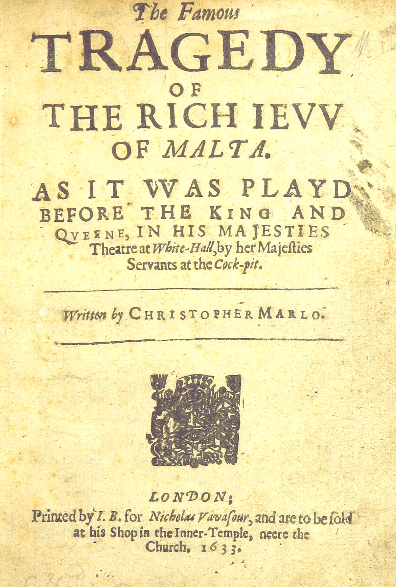 Marlowe's The Jew of Malta