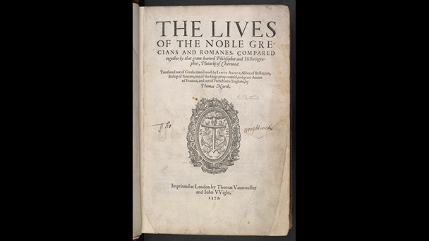 North's translation of Plutarch's Lives