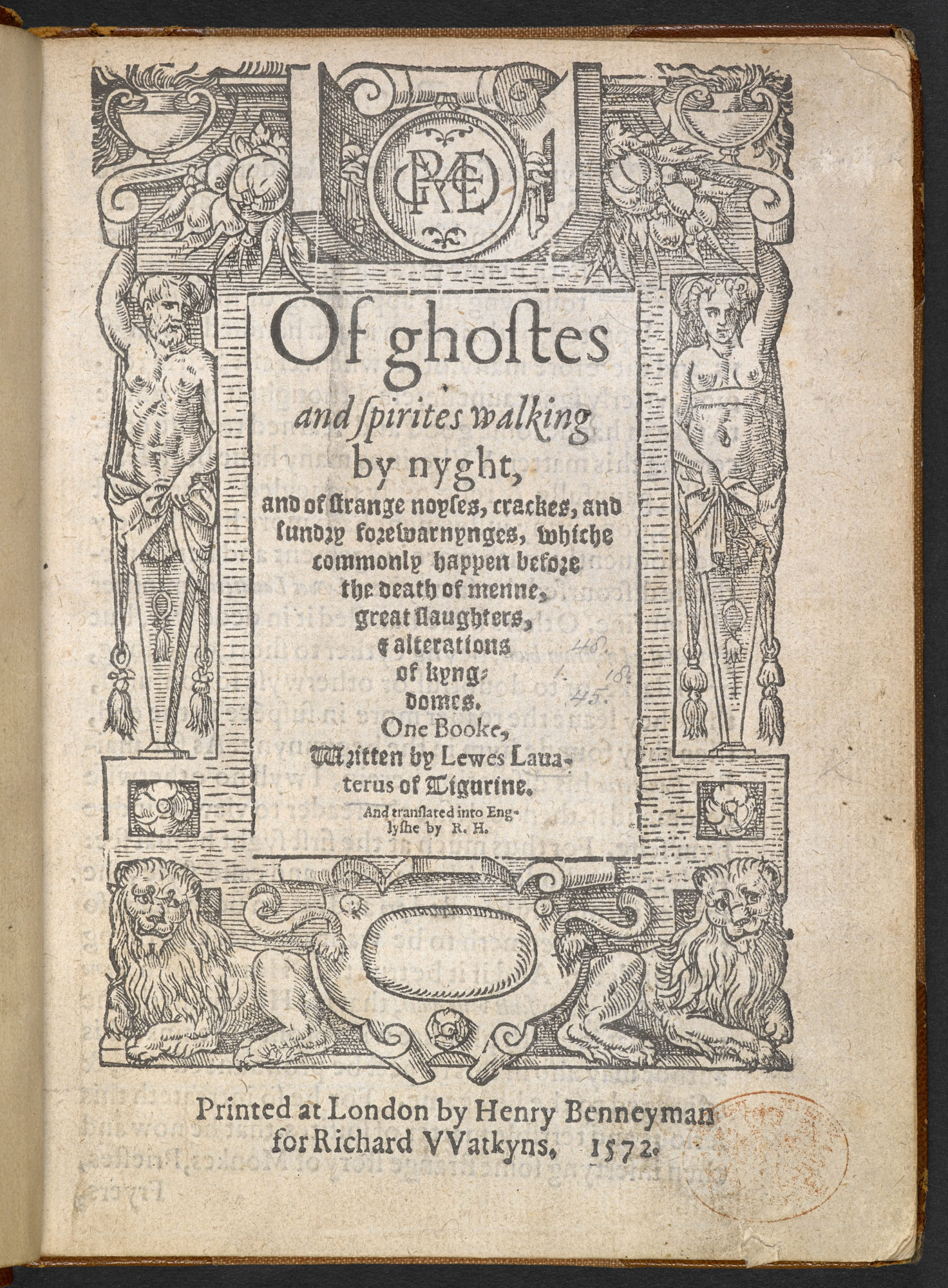 Of Ghosts and Spirits Walking by Night by Ludwig Lavater, 1572