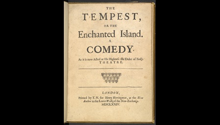 Operatic adaptation of The Tempest by Dryden