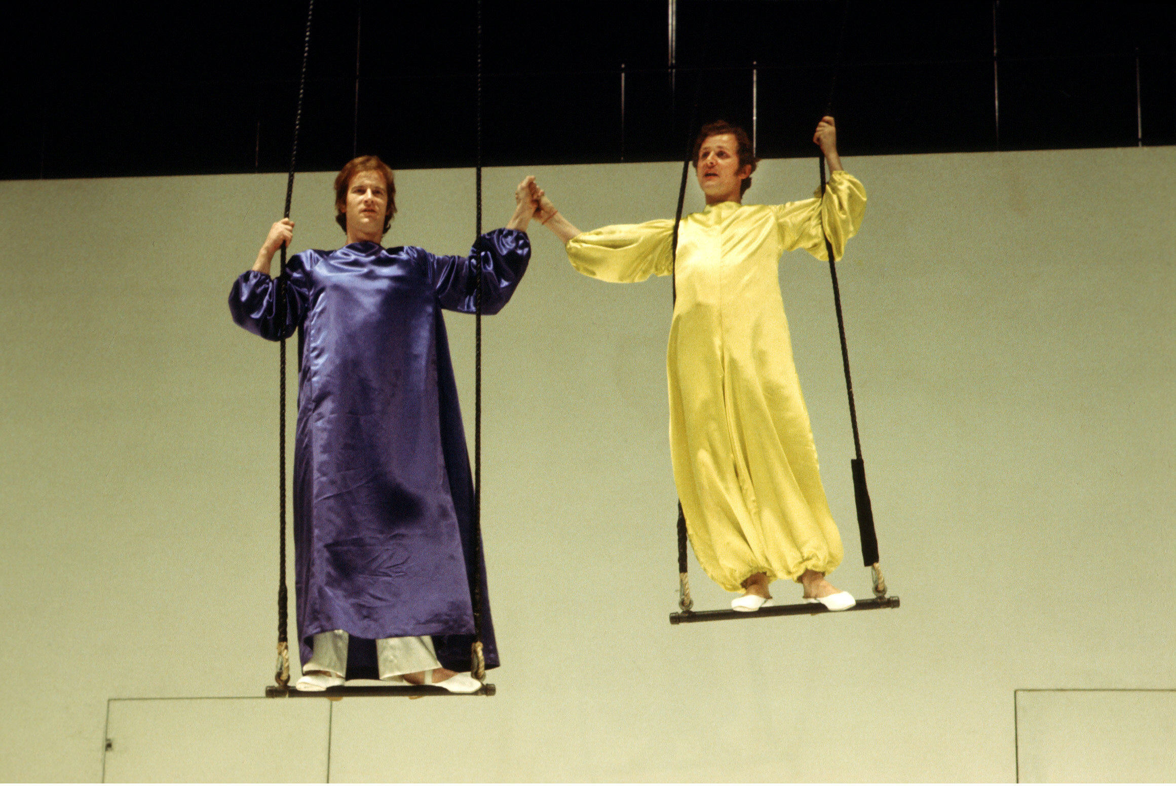 Photograph of Alan Howard and John Kane in Peter Brook's production of A Midsummer Night's Dream
