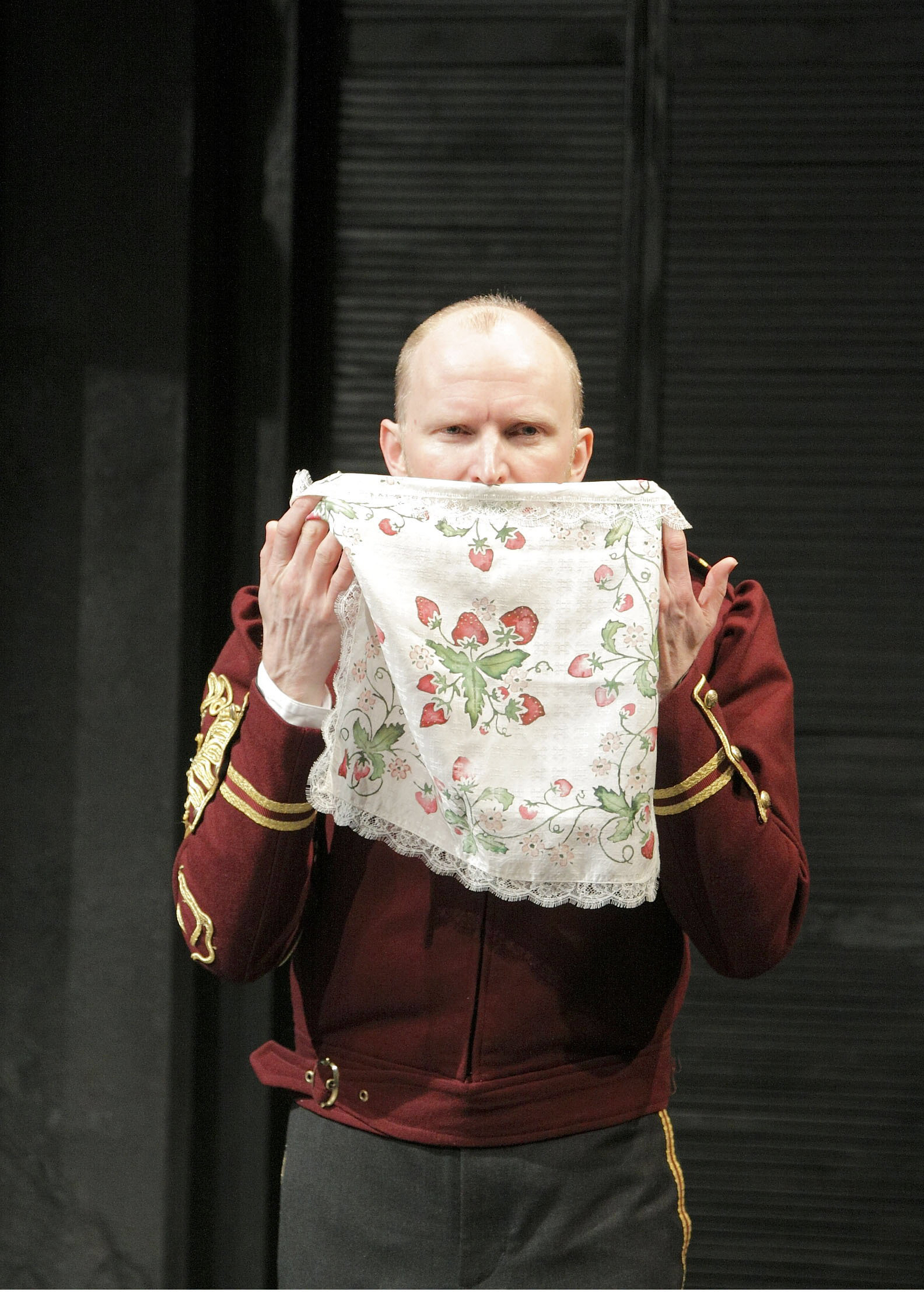 Photograph of Conrad Nelson as Iago in Othello at the West Yorkshire Playhouse, 2009