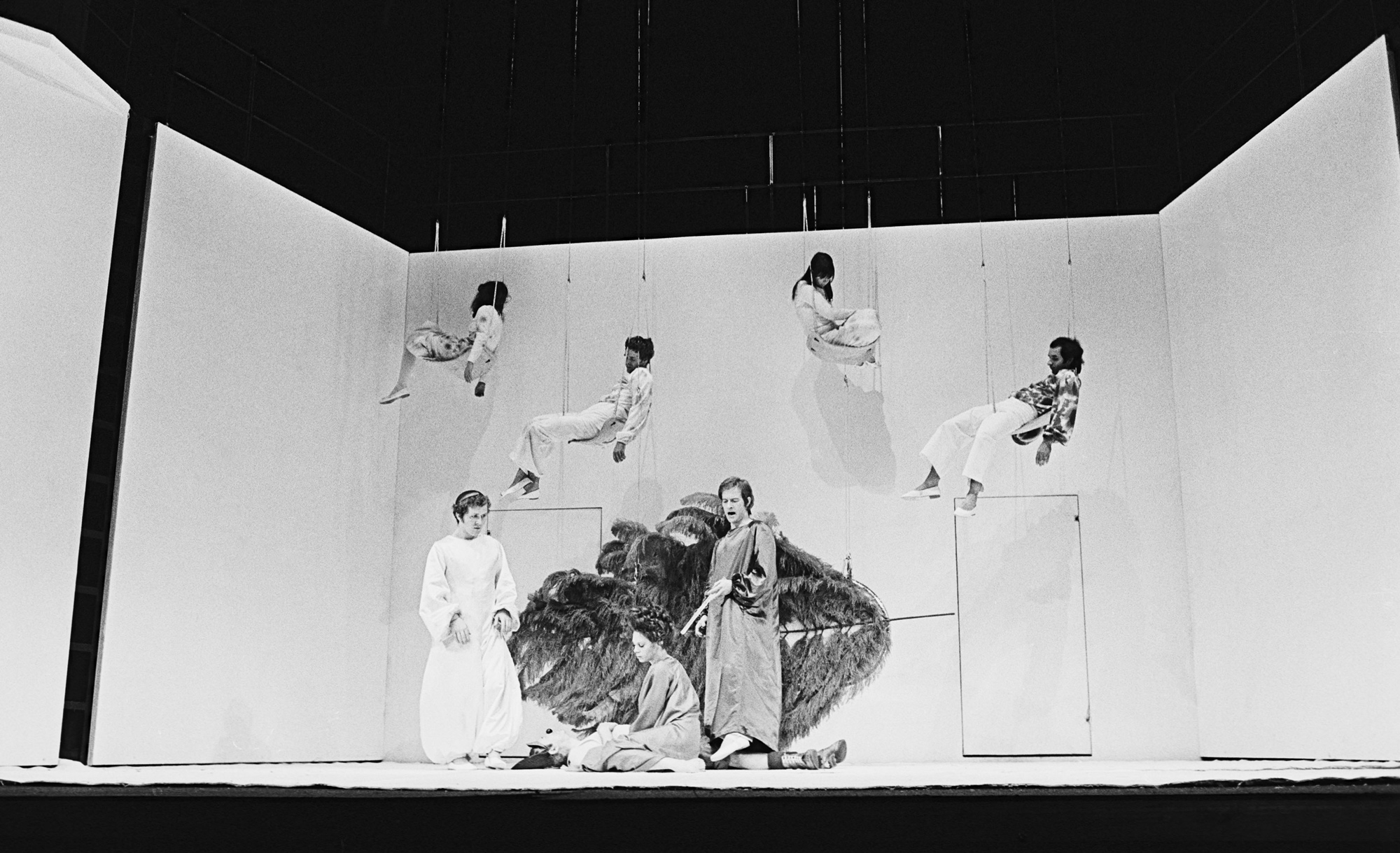 Photograph of A Midsummer Night's Dream directed by Peter Brook, 1970