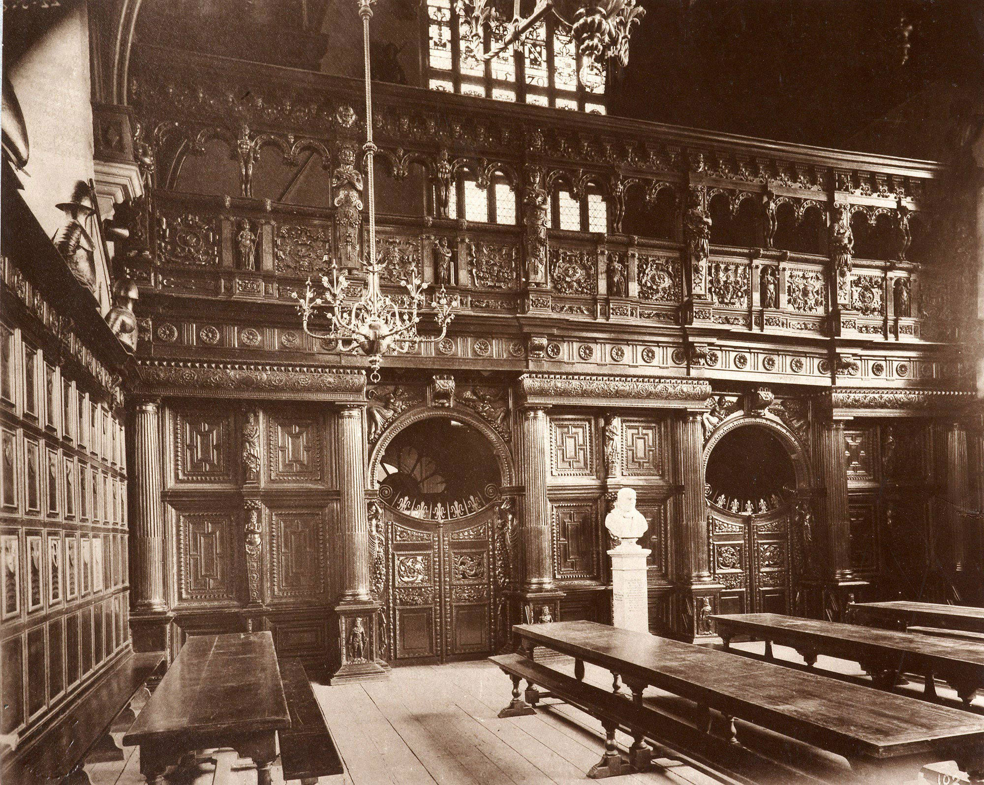 Photograph of Middle Temple Hall, the location for the first recorded performance of Twelfth Night