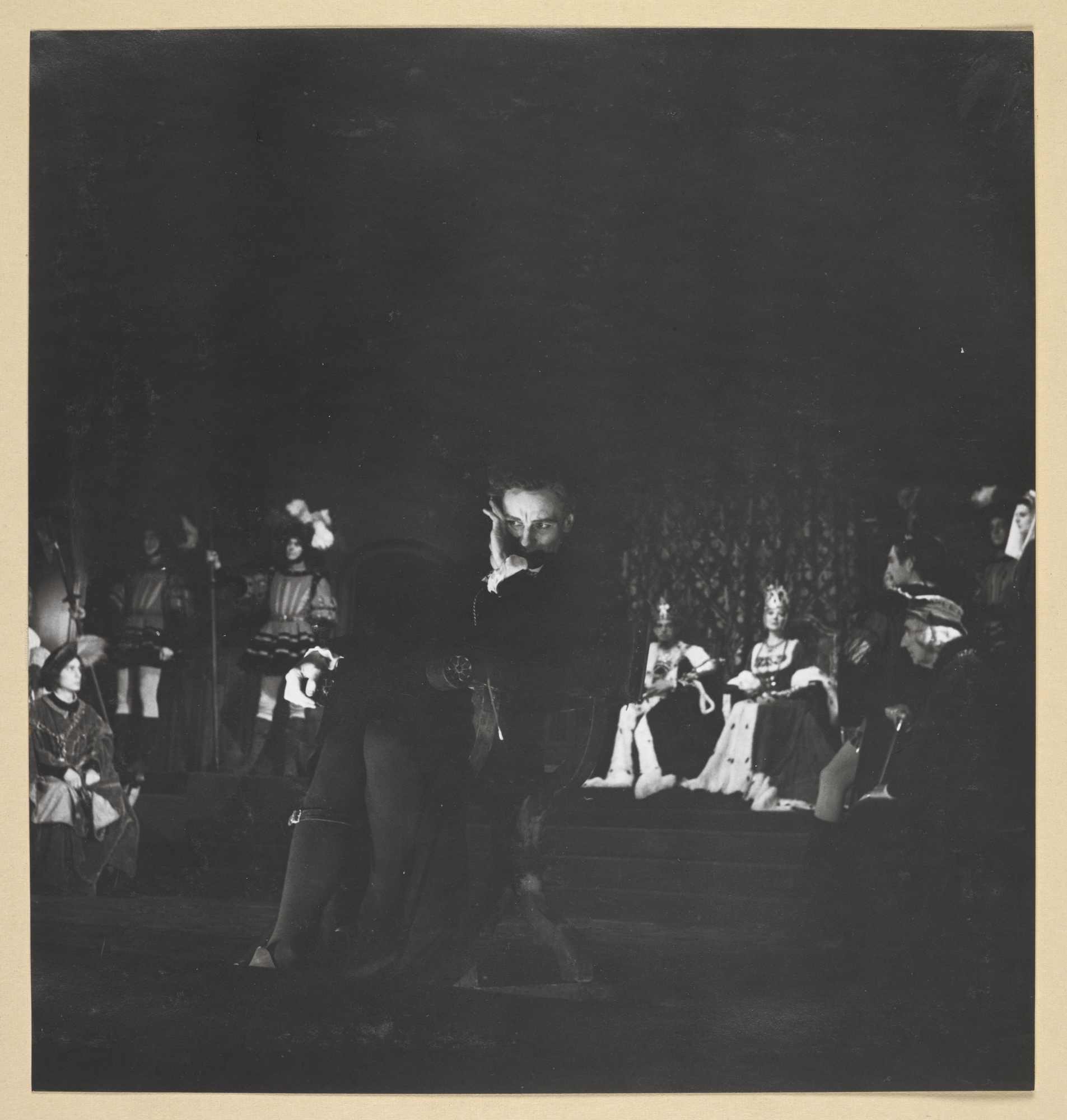 Photographs of John Gielgud and Peggy Ashcroft in Hamlet 1944