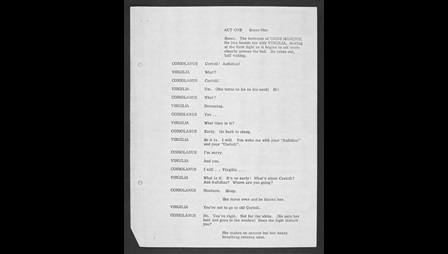 Playscript of A Place Calling Itself Rome by John Osborne