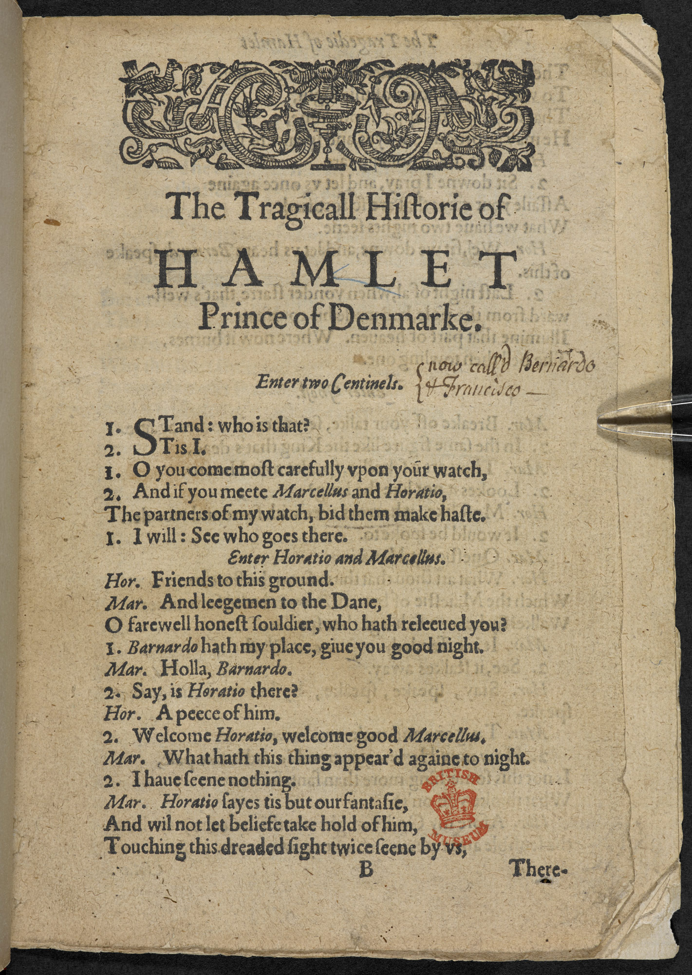 First Quarto of Hamlet