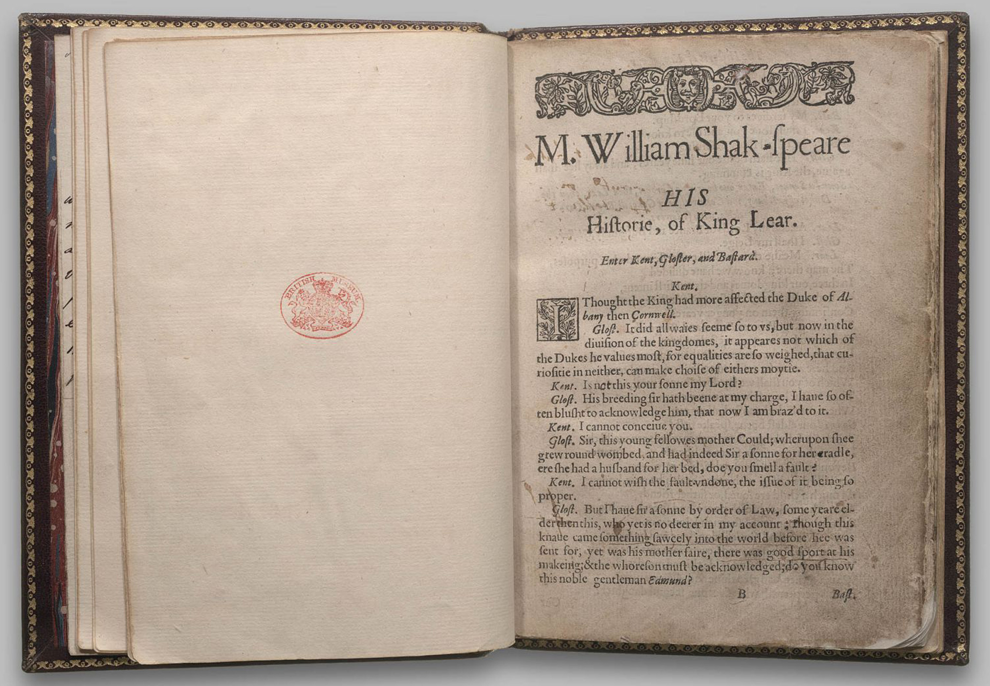 Quarto 1 of King Lear, 1608