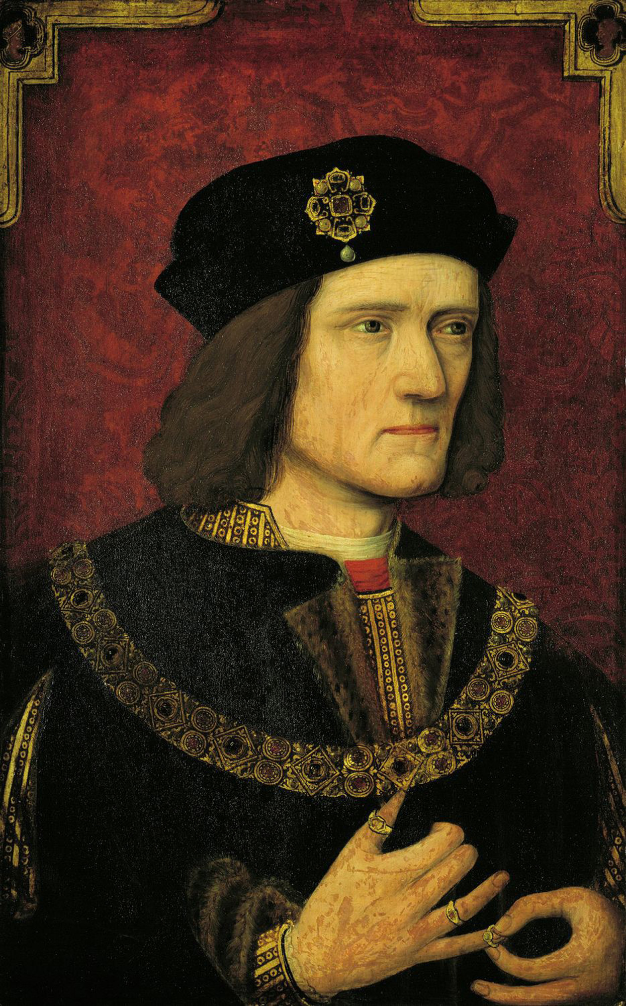 Richard III, portrait with overpaint, c. 1504–20