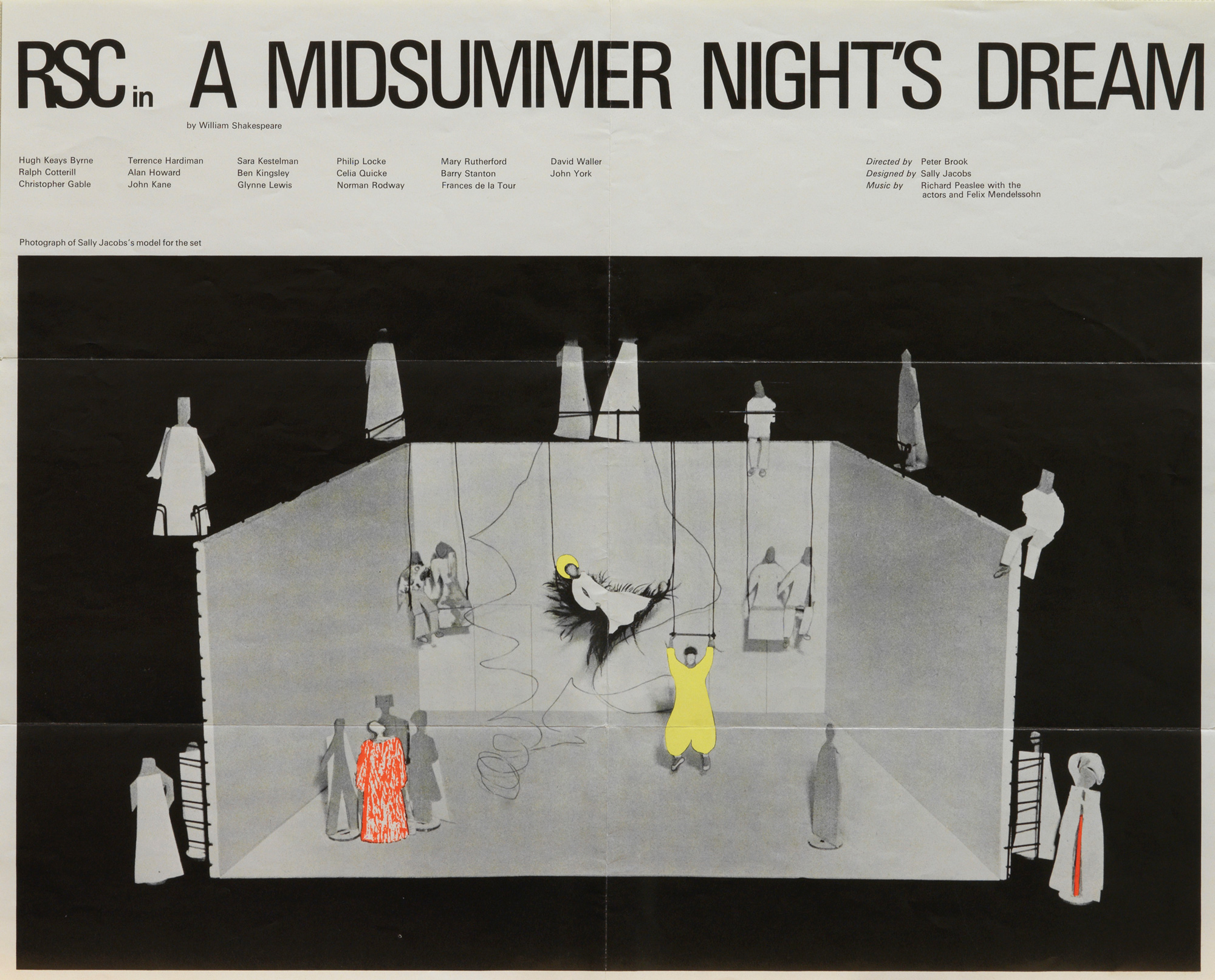 Poster for Peter Brook's Midsummer Night's Dream