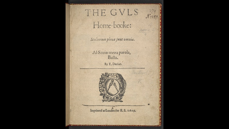 Satire on watchmen and playhouses in Dekker's The Gull's Horn-book