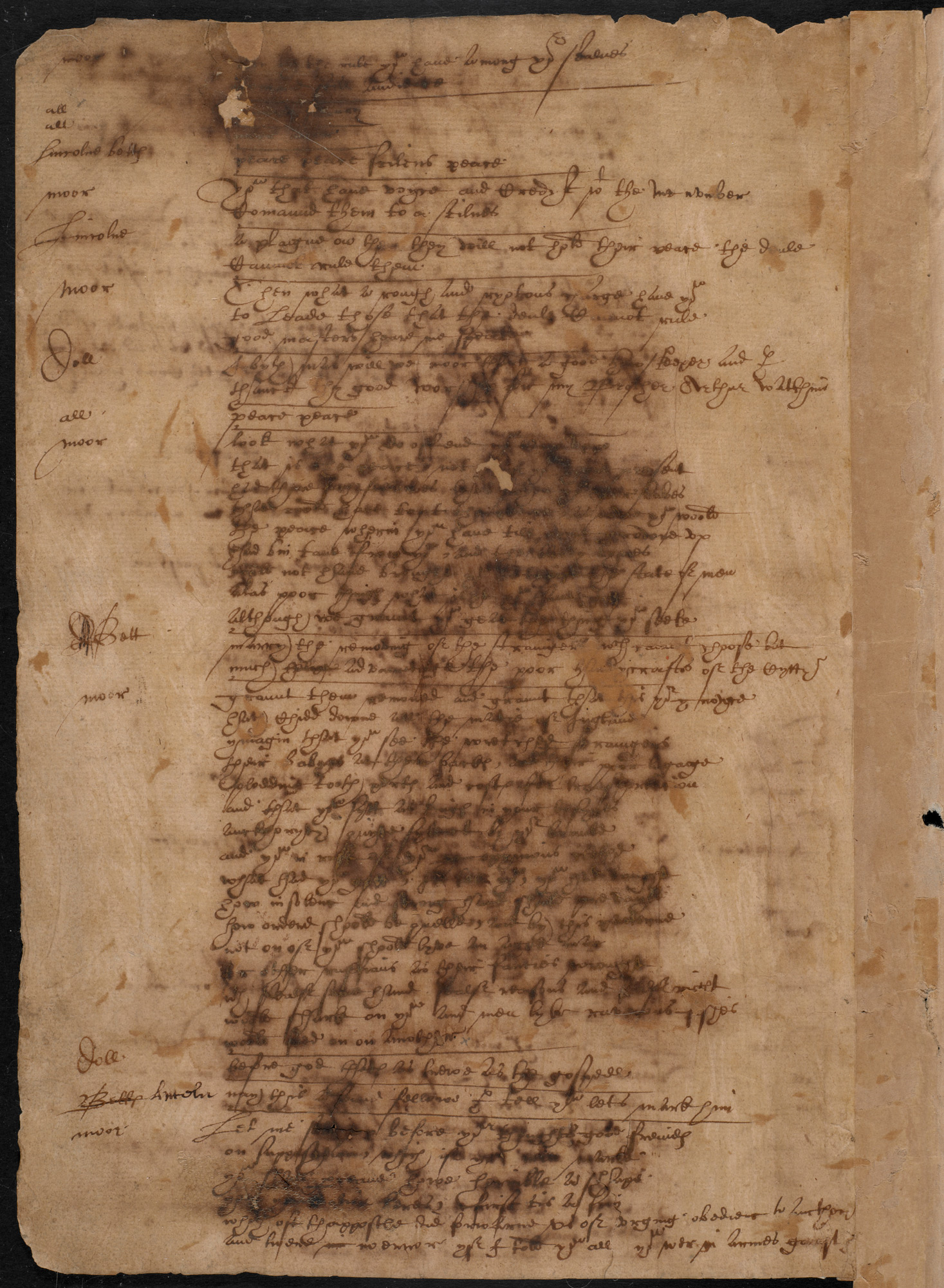 Shakespeare's handwriting in The Book of Sir Thomas More