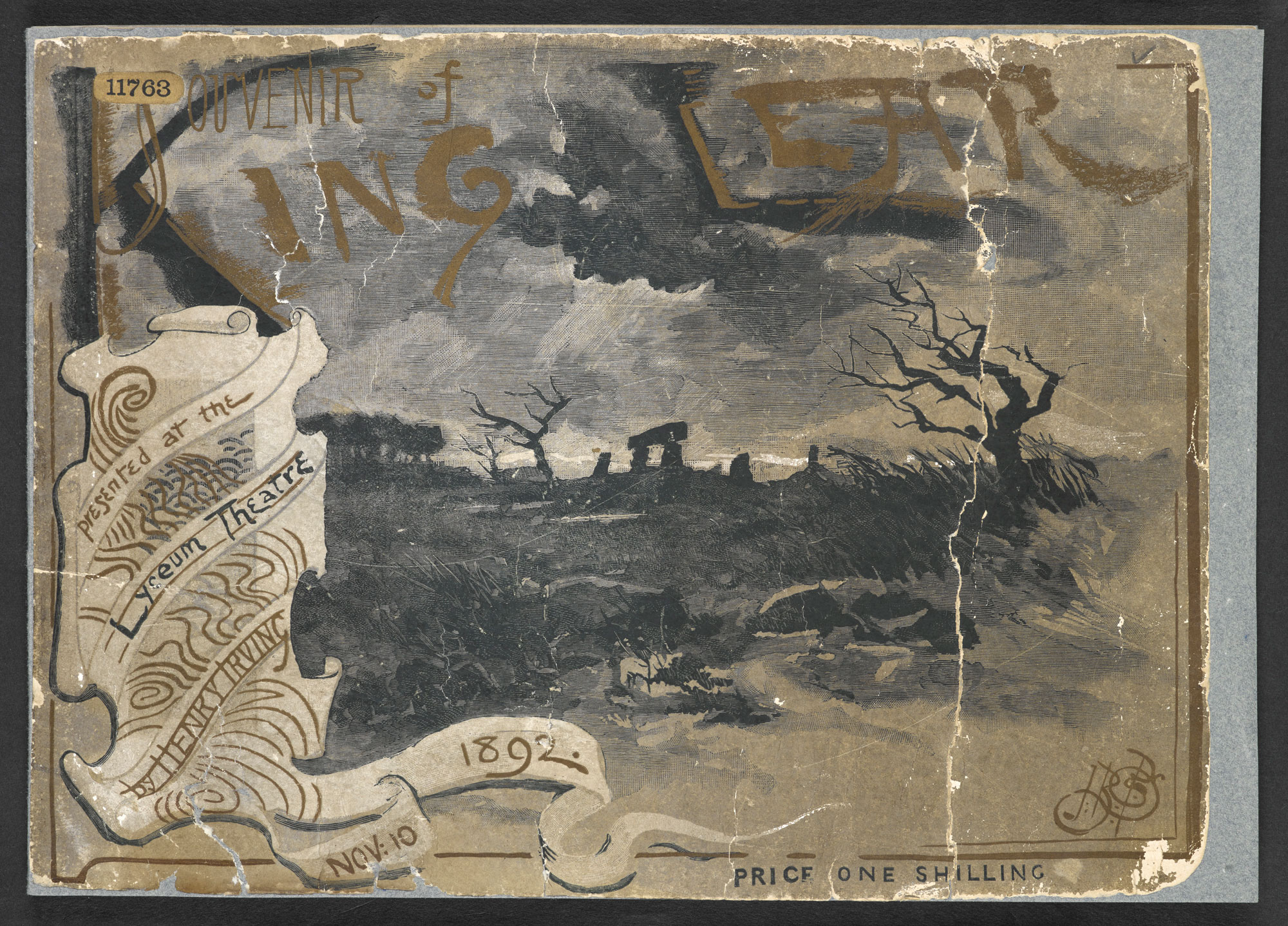 Souvenir of Henry Irving's King Lear at the Lyceum Theatre, 1892