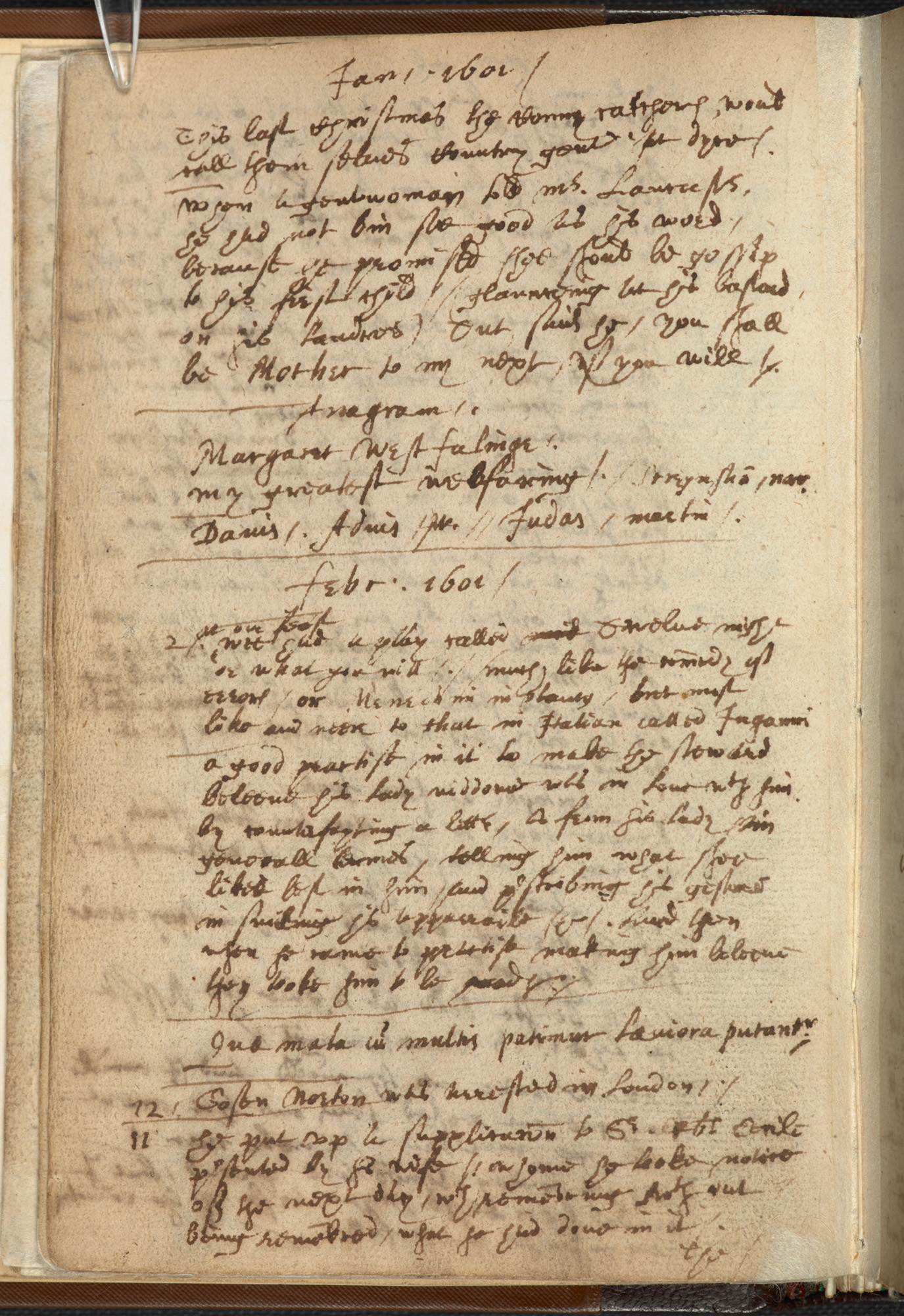 The festival of Twelfth Night in John Manningham's Diary