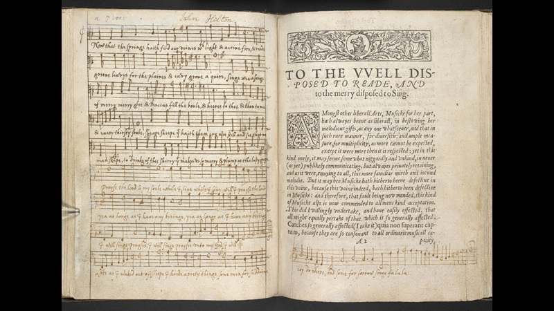 The Fool's song from King Lear, a C17th music manuscript