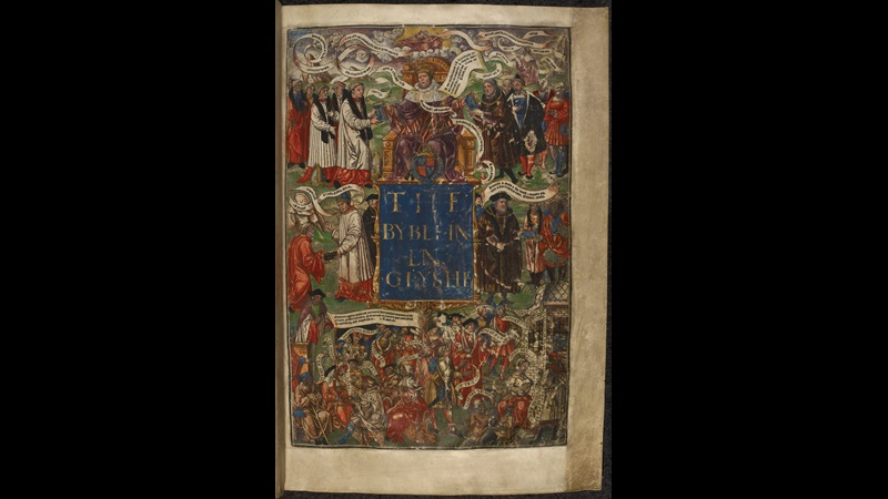 The Great Bible, probably Henry VIII's own copy