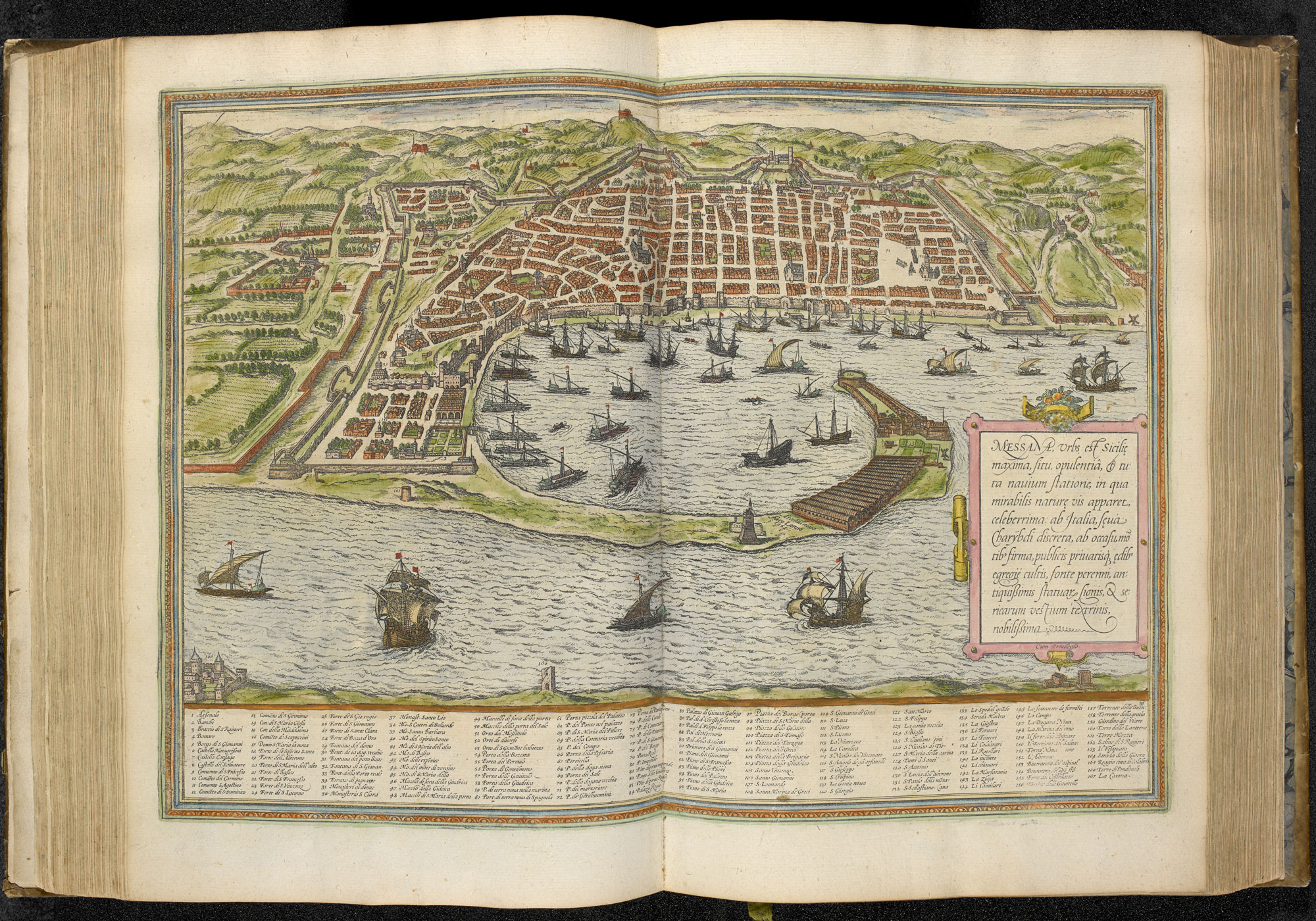 View of Messina in Civitates Orbis Terrarum
