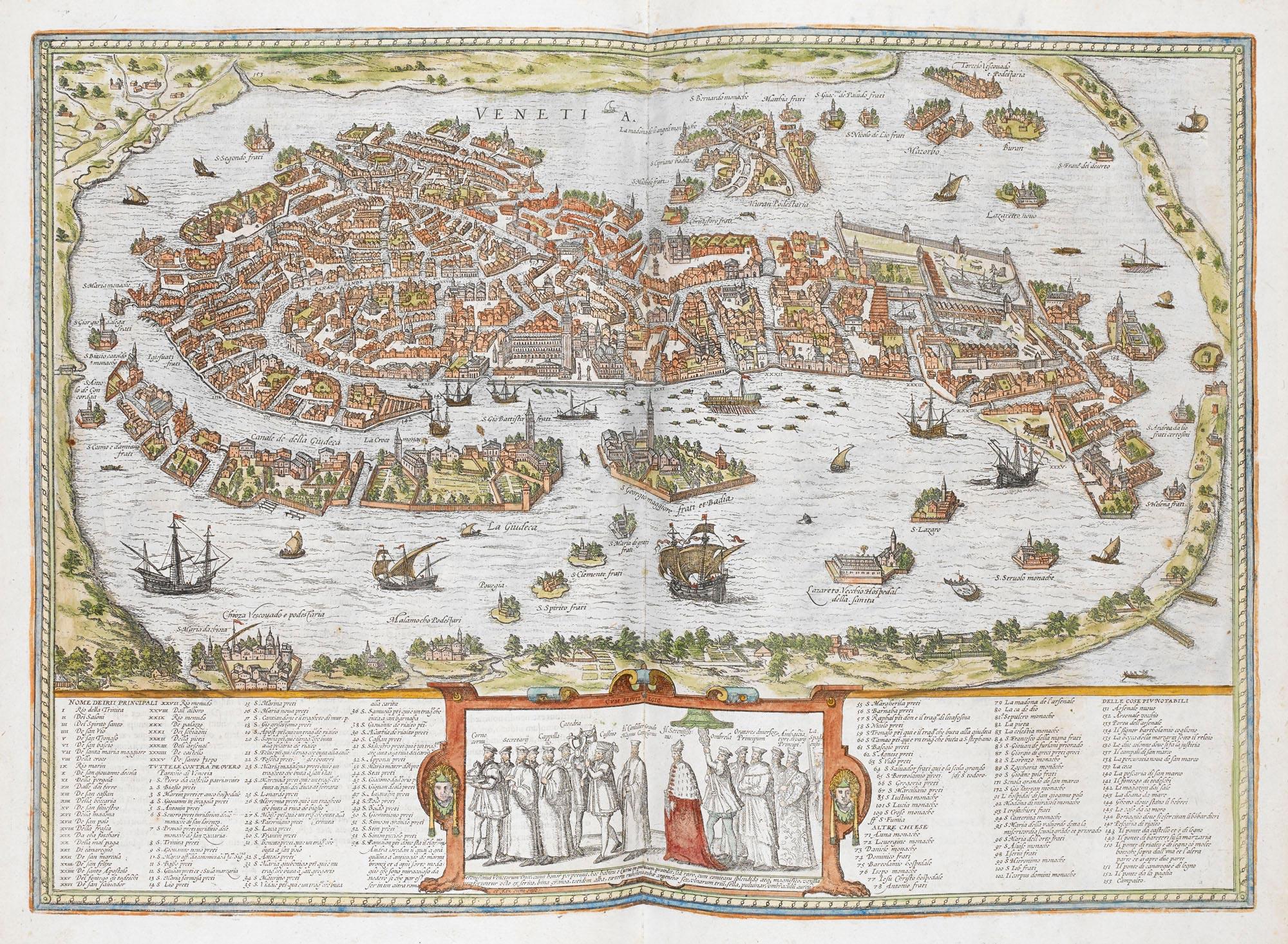 View of Venice in Civitates Orbis Terrarum
