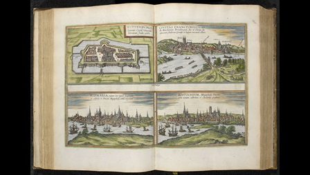 Views of Wittenberg and Elsinore in Civitates Orbis Terrarum