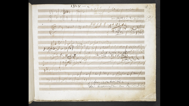 Image from Beethoven's 'Pastoral' Symphony sketchbook, Add MS 31766