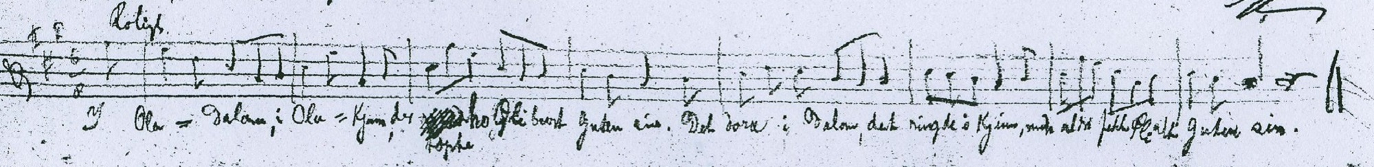 Frants Beyer's transcription of the melody used in Frederick Delius' On hearing the first cuckoo in spring