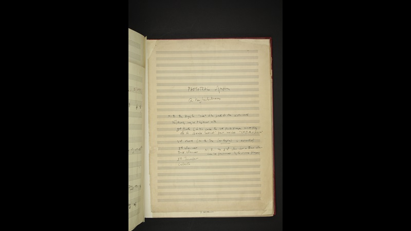 Ralph Vaughan Williams, A Pastoral Symphony, Add MS 50369, f5r