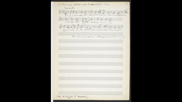 Ralph Vaughan Williams, Folk Song Collections, Add MS 54188