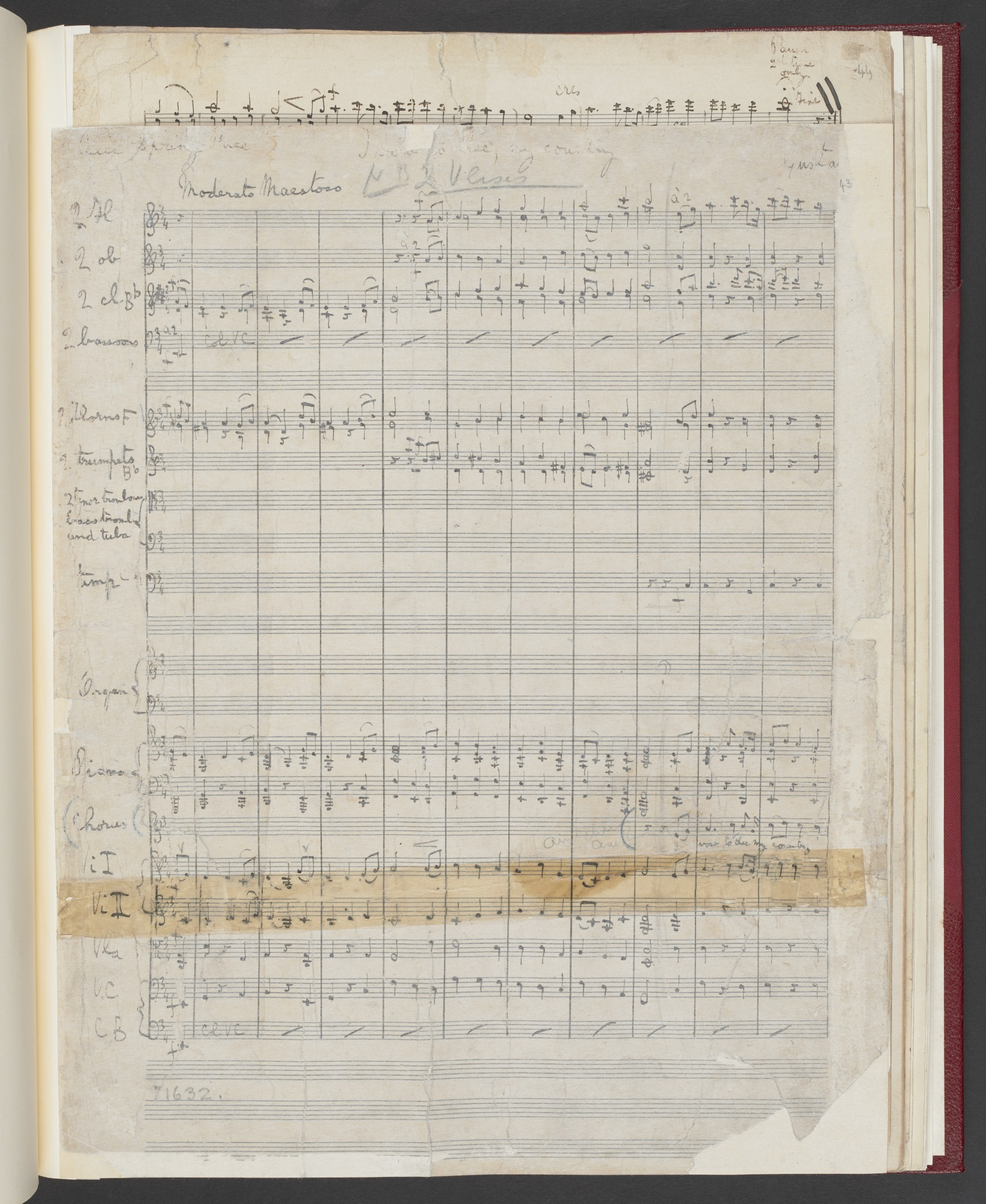 Gustav Holst, 'I vow to thee, my country' for voices and orchestra, Add MS 57880