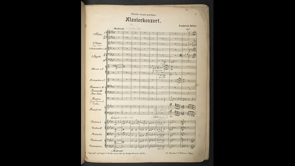Frederick Delius, Piano Concerto, with annotations by Thomas Beecham