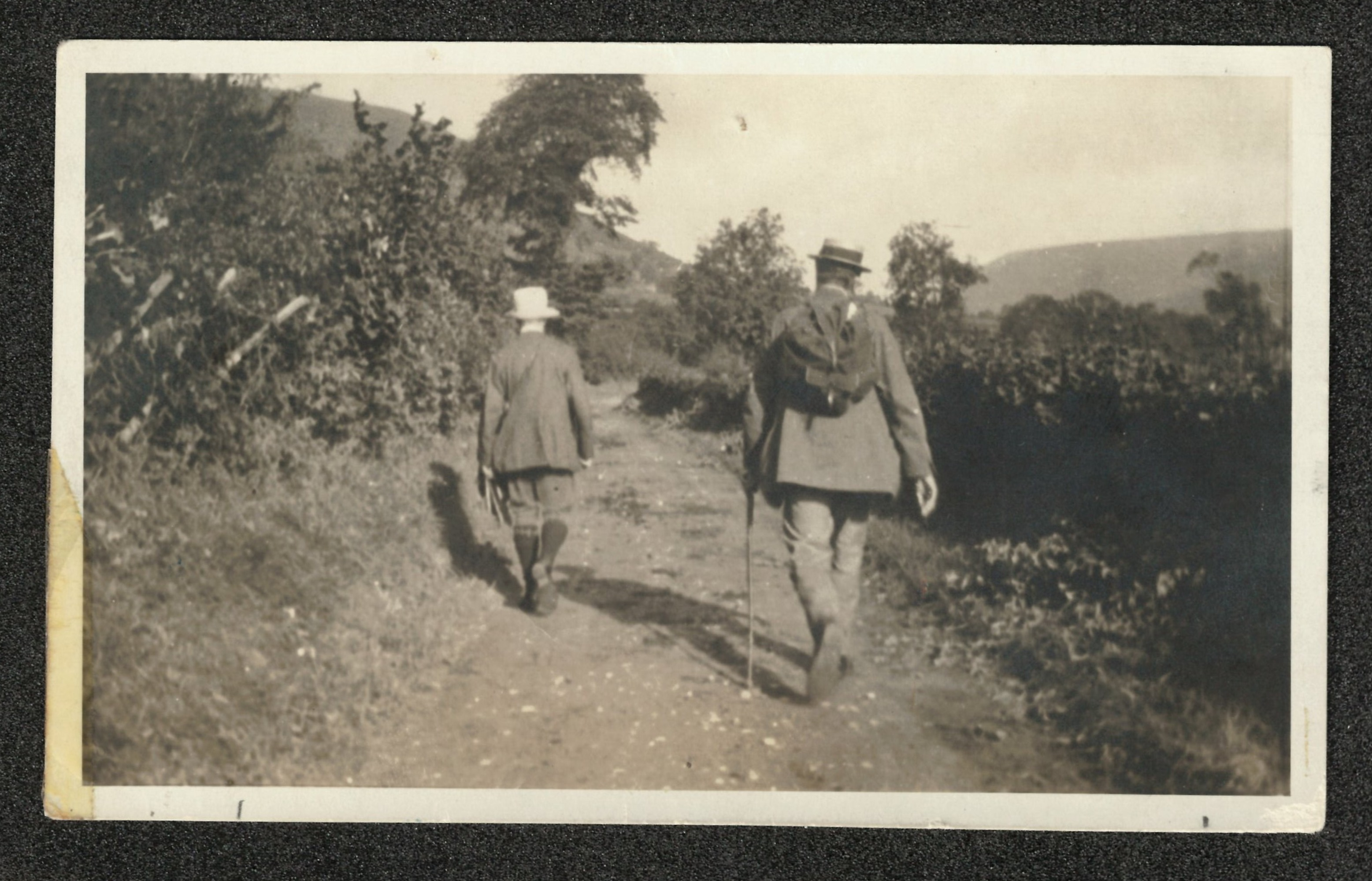 Ralph Vaughan Williams and Gustav Holst walking in the Malvern Hills