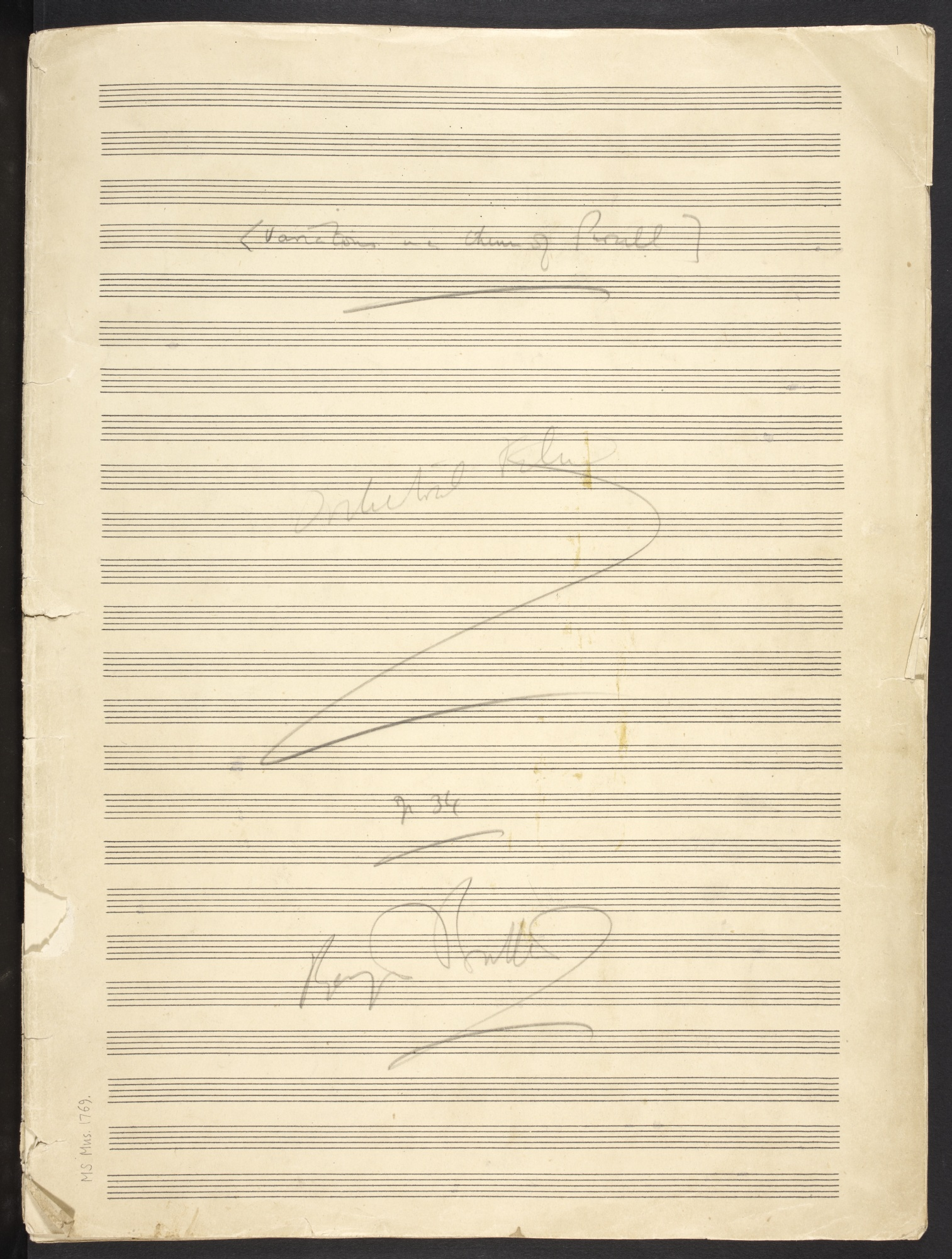 Benjamin Britten, The Young Person's Guide to the Orchestra, MS Mus. 1769