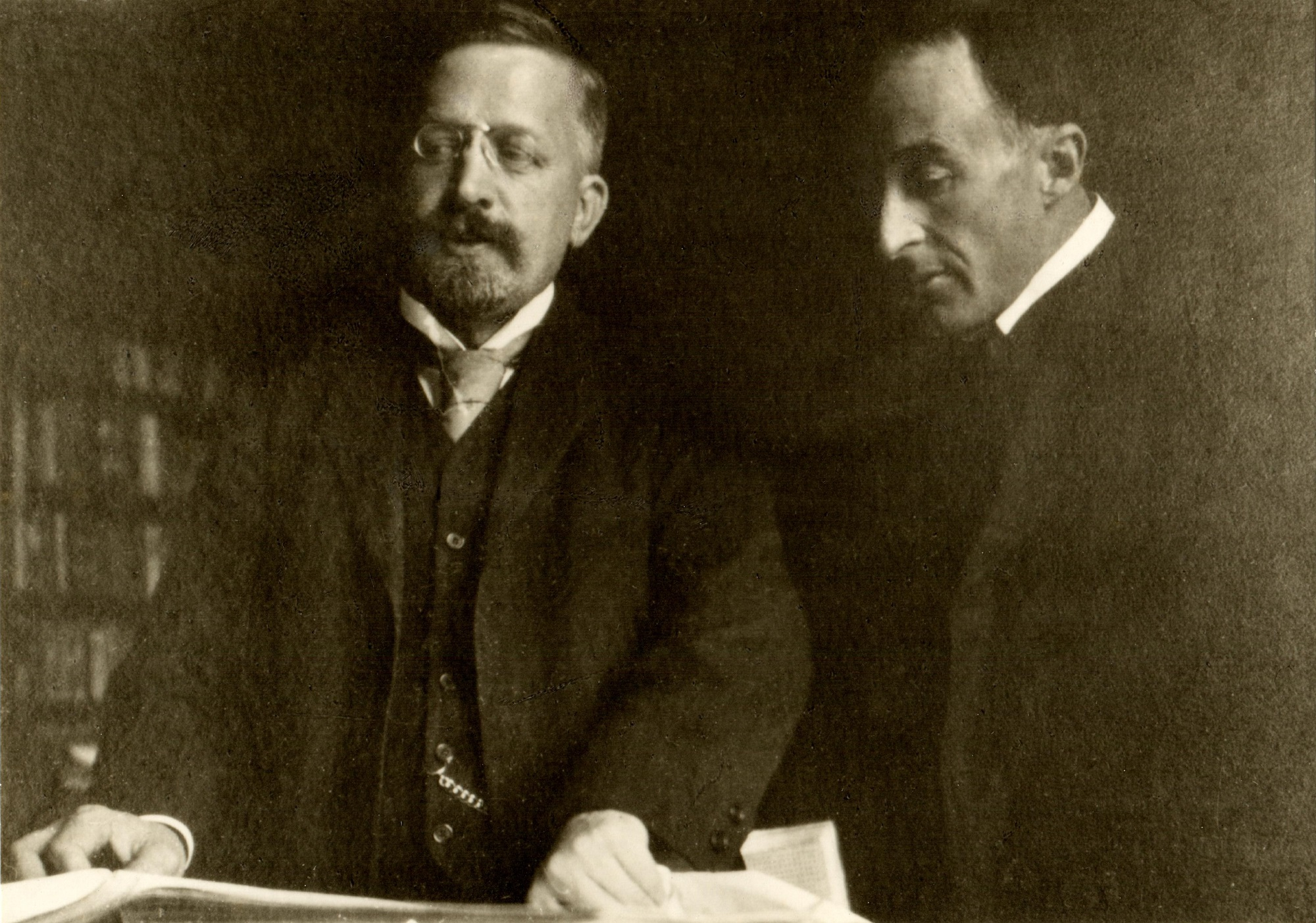 Photograph of Hans Haym (1860-1921) and Frederick Delius (1862-1934)