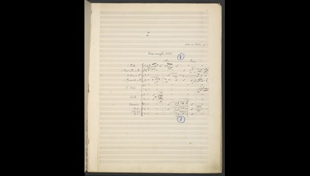 Anton Webern, 6 Pieces for Large Orchestra, Op. 6, Zweig MS 128