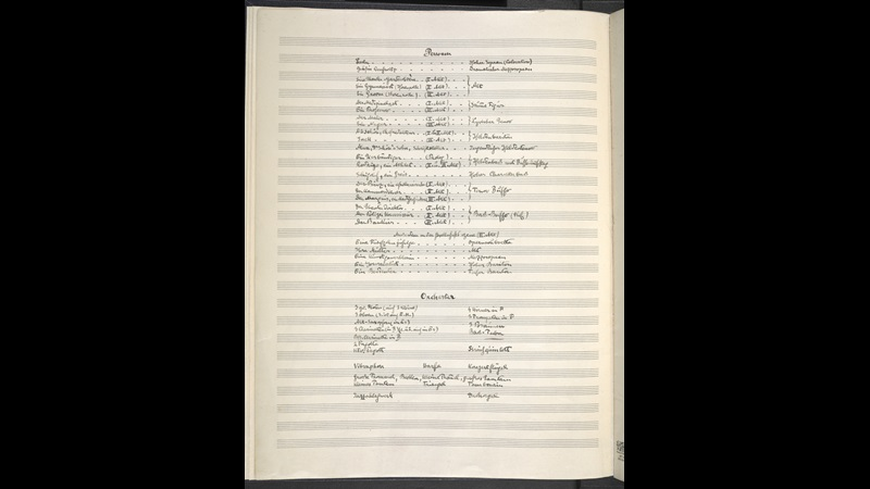 Alban Berg: Prologue to opera Lulu. Zweig MS 17