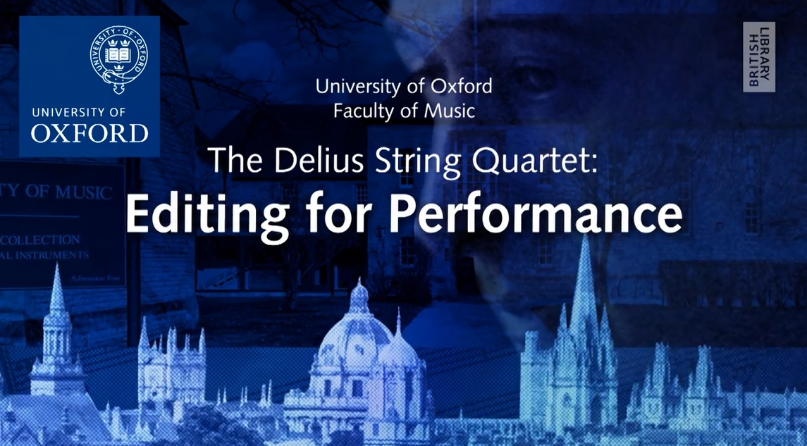 The Delius String Quartet: editing for performance