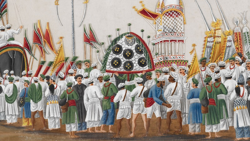 Painting of the Muharram Festival. This festival starts on the first day of Muharram, the first month of the Islamic calendar, and lasts for ten days.