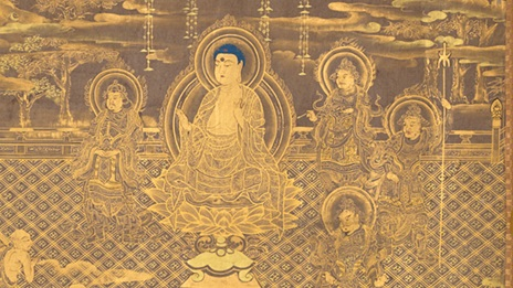 An image of the Buddha from a Japanese Lotus Sutra