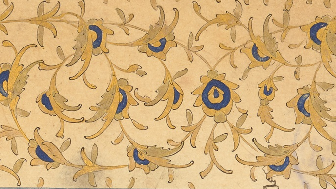 Detail of the intricate pattern from or 13890 f002v
