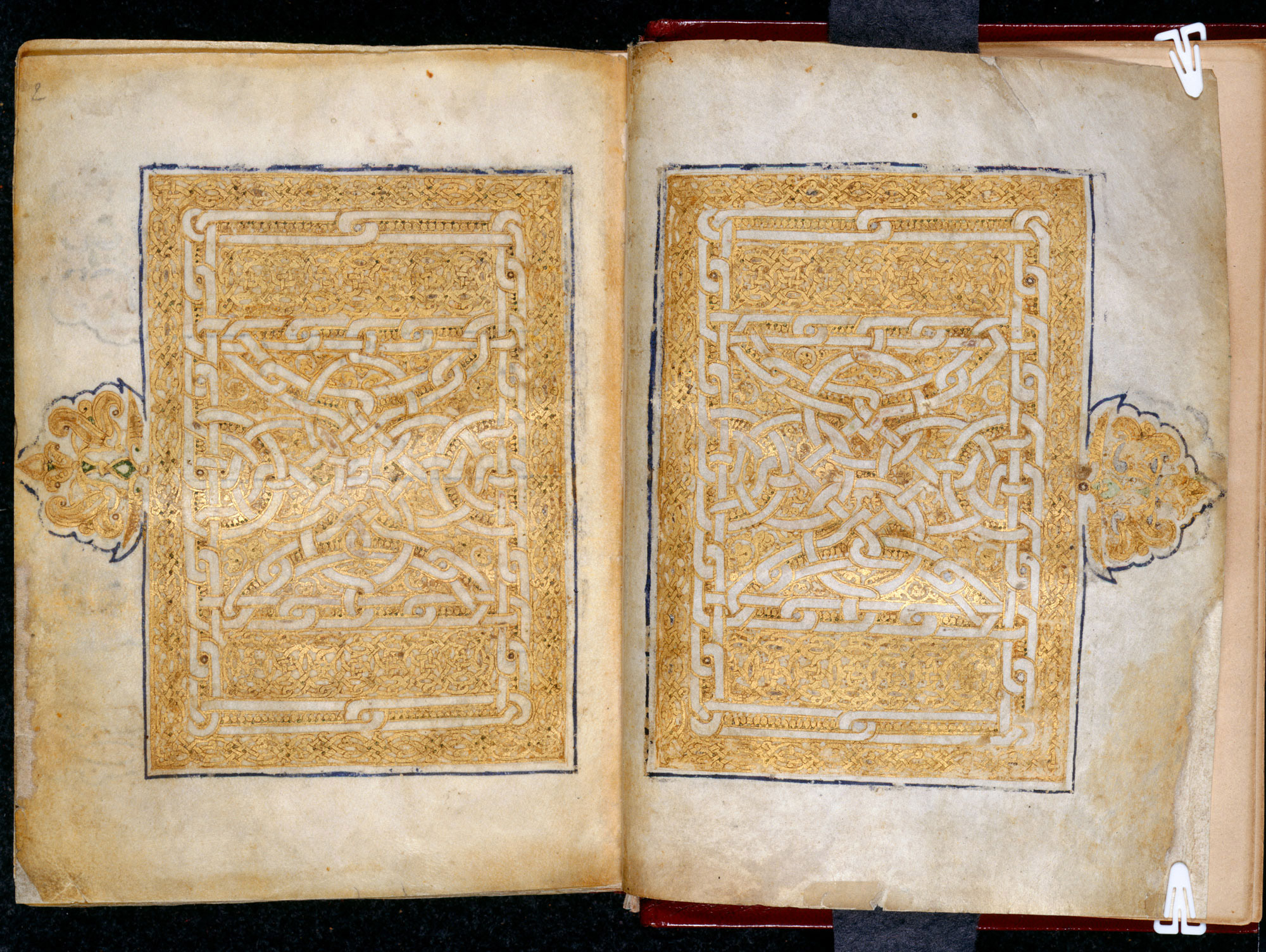 10th century Qur'an, Add MS 11735, ff001v-002r