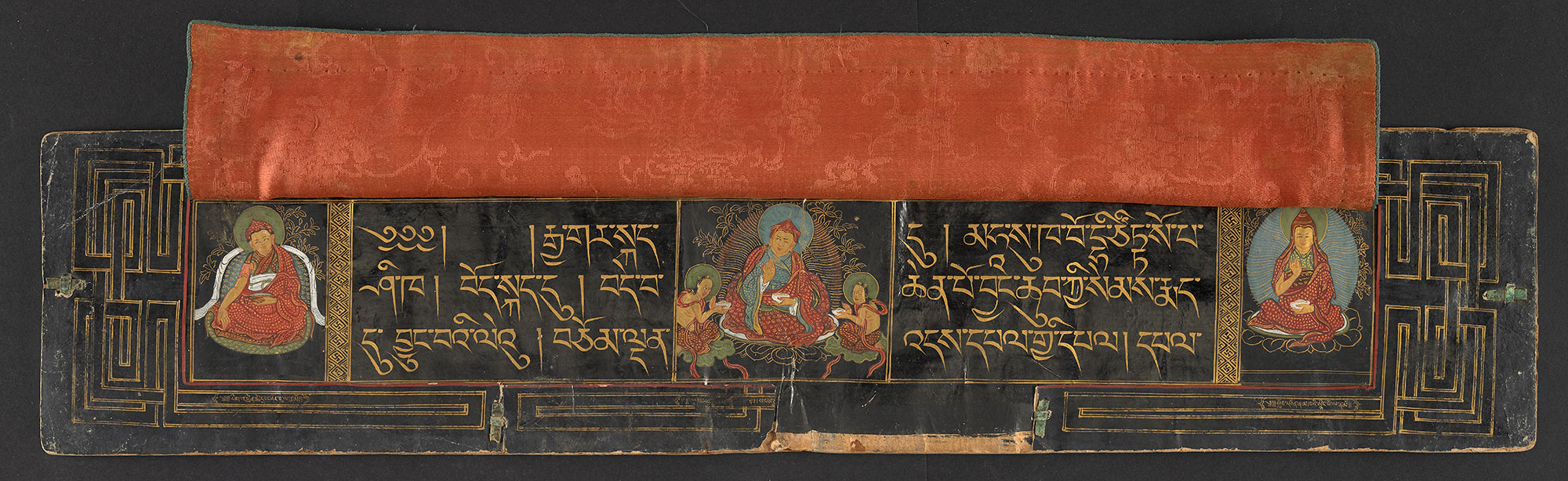 Collected Tantras of the Ancient Tradition, Or 15217, volume 1, f1v. The miniatures in the individual volumes show a portrait of Katog Rigdzin Tsewang Norbu (1698–1755) who was one of the most eminent Lamas of the School of the Ancients during his time.