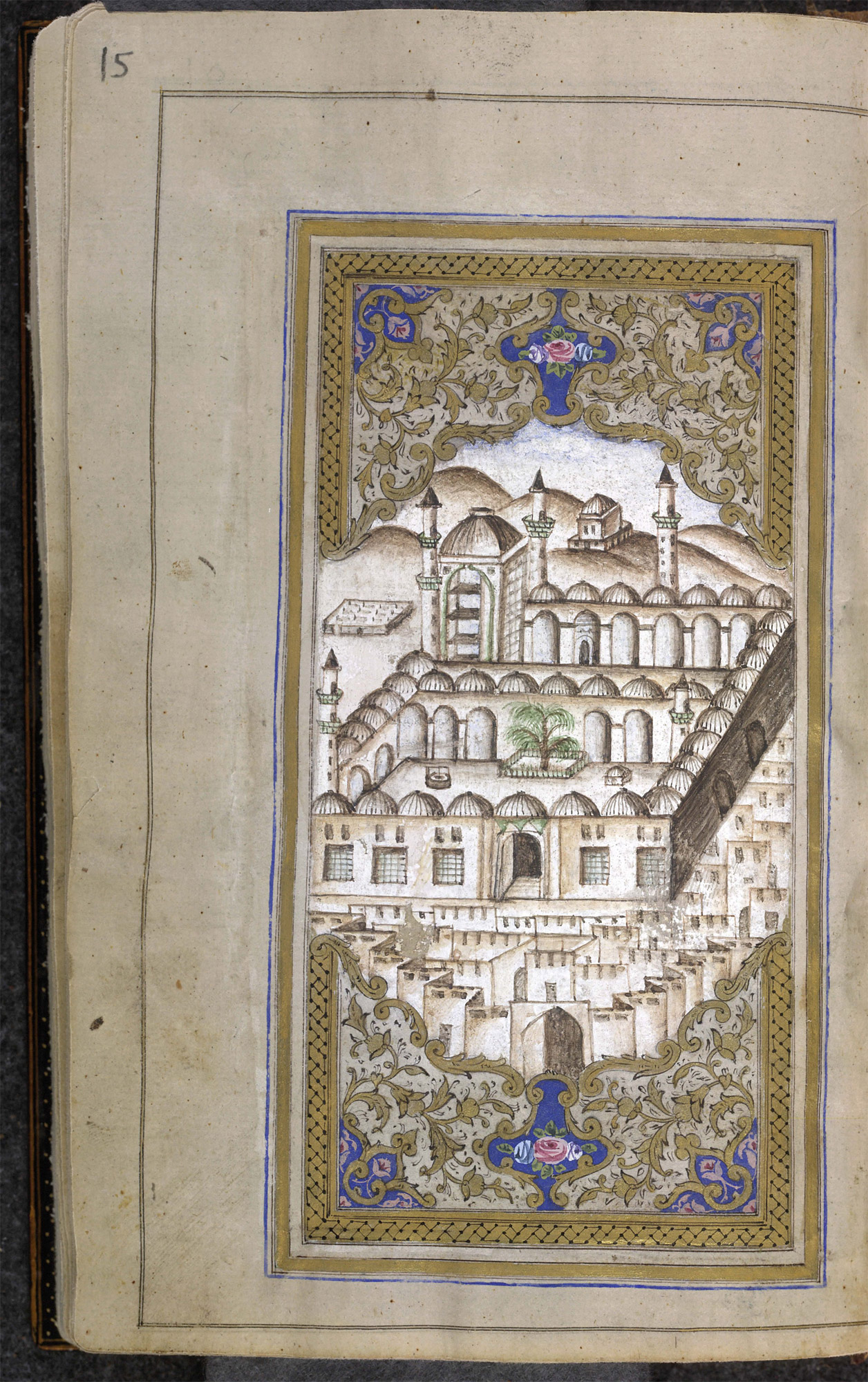 Depiction of the holy cities of Mecca and Medina - The