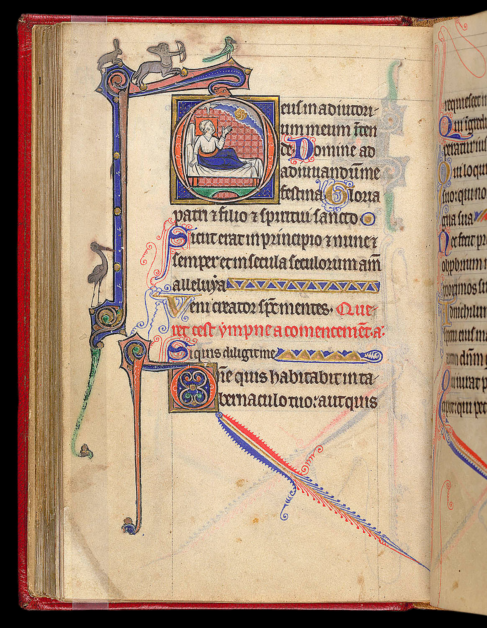 13th-century English Book of Hours. Egerton MS 1151, f. 88v